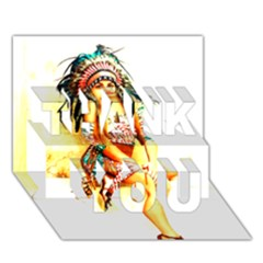 Indian 16 Thank You 3d Greeting Card (7x5)  by indianwarrior