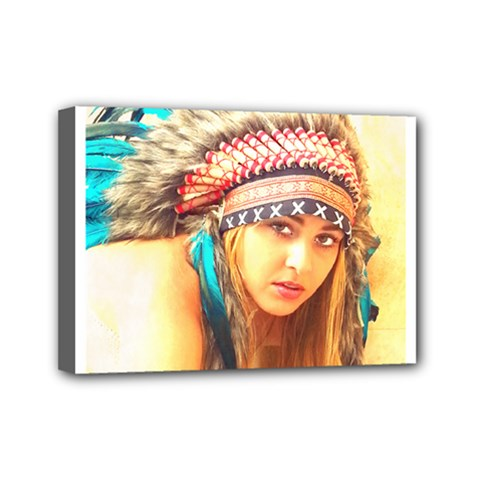 Indian 14 Mini Canvas 7  X 5  by indianwarrior