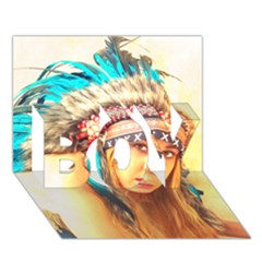 Indian 14 Boy 3d Greeting Card (7x5) by indianwarrior