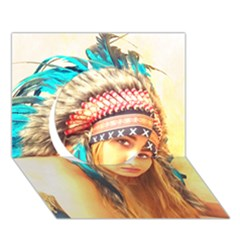 Indian 14 Circle 3d Greeting Card (7x5)  by indianwarrior