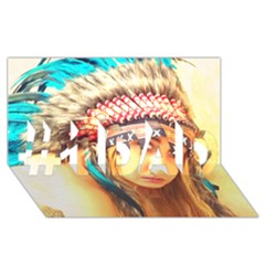 Indian 14 #1 Dad 3d Greeting Card (8x4)  by indianwarrior