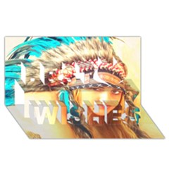 Indian 14 Best Wish 3d Greeting Card (8x4)  by indianwarrior
