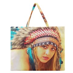 Indian 14 Zipper Large Tote Bag