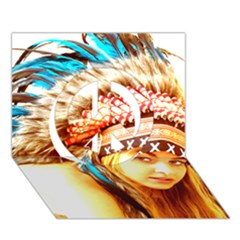 Indian 12 Peace Sign 3d Greeting Card (7x5)  by indianwarrior
