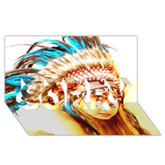 Indian 12 Sorry 3d Greeting Card (8x4)  by indianwarrior