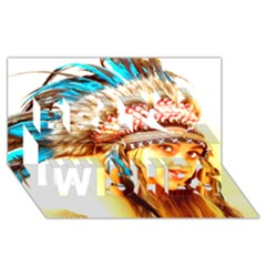 Indian 12 Best Wish 3d Greeting Card (8x4)  by indianwarrior