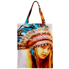 Indian 12 Zipper Classic Tote Bag by indianwarrior