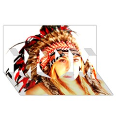 Indian 3 Mom 3d Greeting Card (8x4)  by indianwarrior