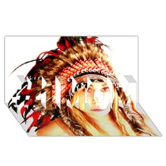 Indian 3 #1 Mom 3d Greeting Cards (8x4)  by indianwarrior