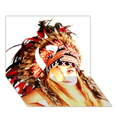 Indian 3 Ribbon 3d Greeting Card (7x5)  by indianwarrior