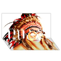 Indian 3 Hugs 3d Greeting Card (8x4)  by indianwarrior