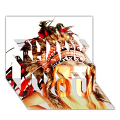 Indian 3 Thank You 3d Greeting Card (7x5)