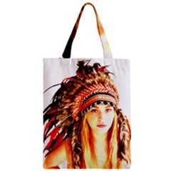 Indian 3 Zipper Classic Tote Bag by indianwarrior