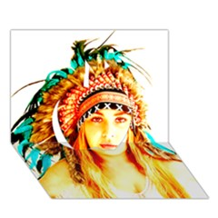 Indian 29 Apple 3d Greeting Card (7x5)  by indianwarrior