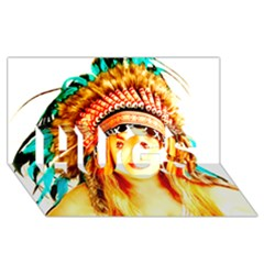 Indian 29 Hugs 3d Greeting Card (8x4)  by indianwarrior