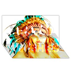 Indian 29 Best Wish 3d Greeting Card (8x4)  by indianwarrior