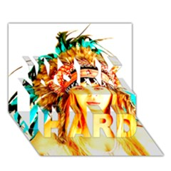 Indian 29 Work Hard 3d Greeting Card (7x5)  by indianwarrior