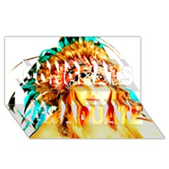 Indian 29 Congrats Graduate 3d Greeting Card (8x4)  by indianwarrior