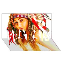 Indian 26 Best Sis 3d Greeting Card (8x4)  by indianwarrior