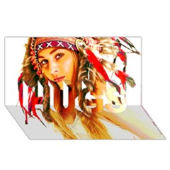 Indian 26 Hugs 3d Greeting Card (8x4)  by indianwarrior
