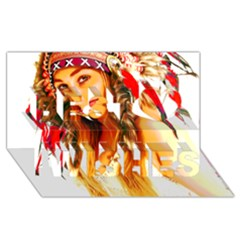 Indian 26 Best Wish 3d Greeting Card (8x4)  by indianwarrior