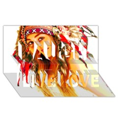 Indian 26 Laugh Live Love 3d Greeting Card (8x4)