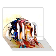 Indian 22 Girl 3d Greeting Card (7x5)  by indianwarrior