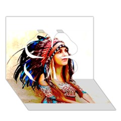 Indian 22 Clover 3d Greeting Card (7x5)  by indianwarrior