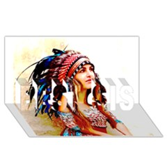 Indian 22 Best Sis 3d Greeting Card (8x4)  by indianwarrior