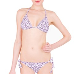Lilac Damask Pattern Bikini Set by Zandiepants