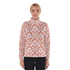 White On Orange Damask Winterwear by Zandiepants
