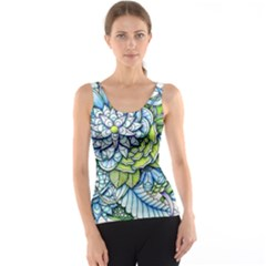Peaceful Flower Garden Tank Top by Zandiepants