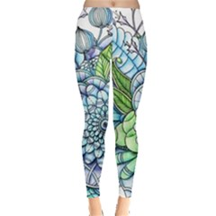 Peaceful Flower Garden 2 Leggings  by Zandiepants