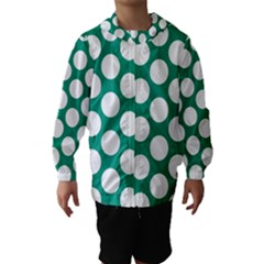 Emerald Green Polkadot Hooded Wind Breaker (kids)