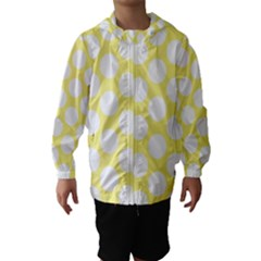 Yellow Polkadot Hooded Wind Breaker (kids)