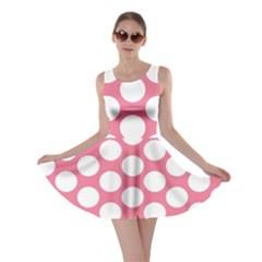 Pink Polkadot Skater Dress by Zandiepants