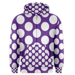 Purple Polkadot Men s Zipper Hoodie by Zandiepants
