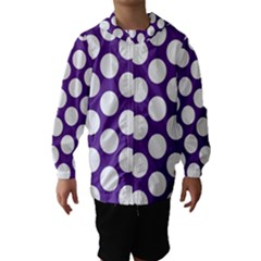Purple Polkadot Hooded Wind Breaker (kids)