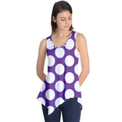 Purple Polkadot Sleeveless Tunic by Zandiepants