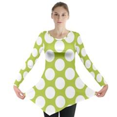 Spring Green Polkadot Long Sleeve Tunic