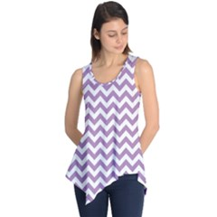 Lilac And White Zigzag Sleeveless Tunic