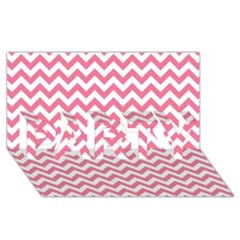 Pink And White Zigzag Party 3d Greeting Card (8x4)  by Zandiepants