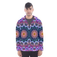 Purple Lotus Hooded Wind Breaker (men) by Zandiepants