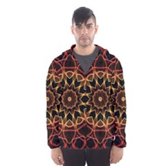 Yellow And Red Mandala Hooded Wind Breaker (men) by Zandiepants
