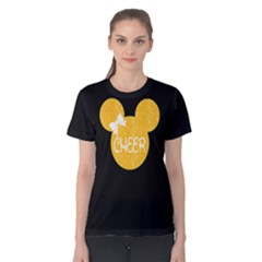 Cheer Mouse In Black/yellow Cotton Tee by GalaxySpirit