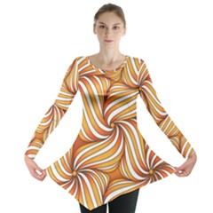 Sunny Organic Pinwheel Long Sleeve Tunic  by Zandiepants