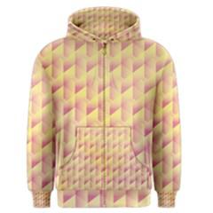 Geometric Pink & Yellow  Men s Zipper Hoodie by Zandiepants