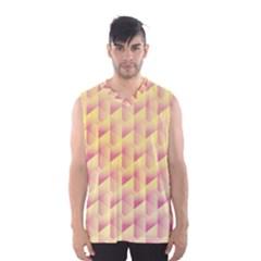 Geometric Pink & Yellow  Men s Basketball Tank Top by Zandiepants
