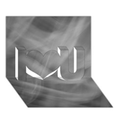 Gray Fog I Love You 3d Greeting Card (7x5)  by timelessartoncanvas