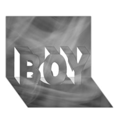 Gray Fog Boy 3d Greeting Card (7x5) by timelessartoncanvas